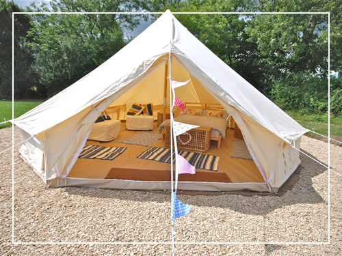 Glamping bell tent holiday
