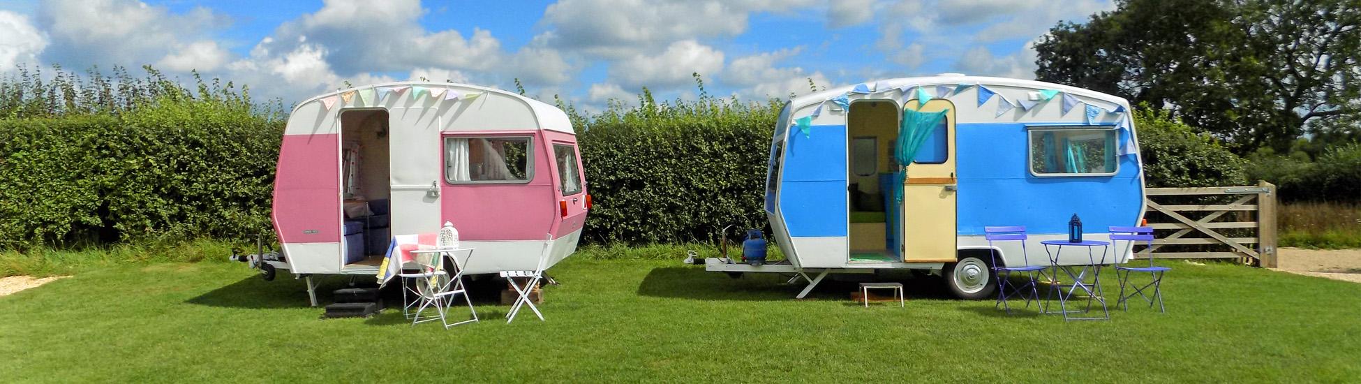 2 caravans